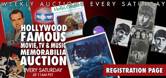 Weekly Friday Hollywood Movie Props and Memorabilia Auction