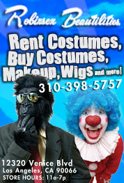 Robinson Beautilities Costume Rental Los Angeles