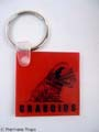 "TREMORS 3  Red ""Graboid� Key Chain MOVIE PROPS"