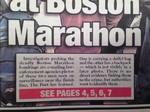 "Patriots Day ""New York Post"" NewsPaper Movie Props"